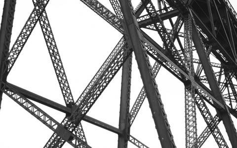 Estructura de vigas de acero