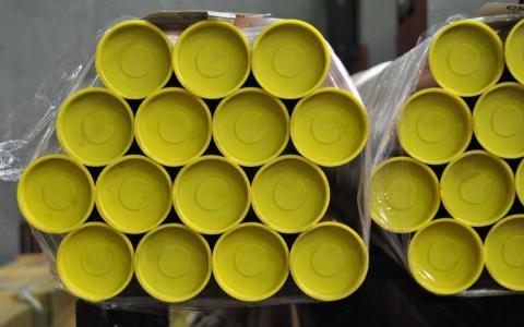 Tubo de cobre con tapones