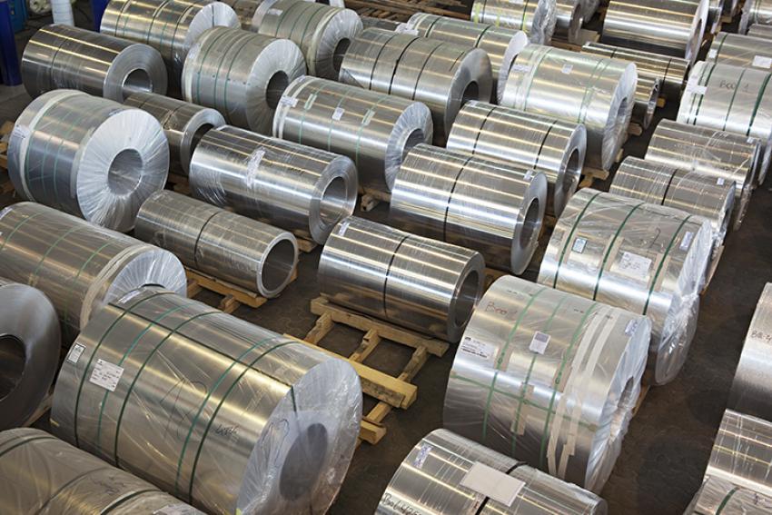 Bobina de cinta de aluminio en Alsimet